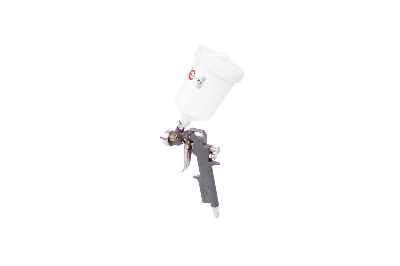 Пневмопистолет лакокрасочный Intertool - верхний бак (пластик) 600 мл, d=1,5 мм