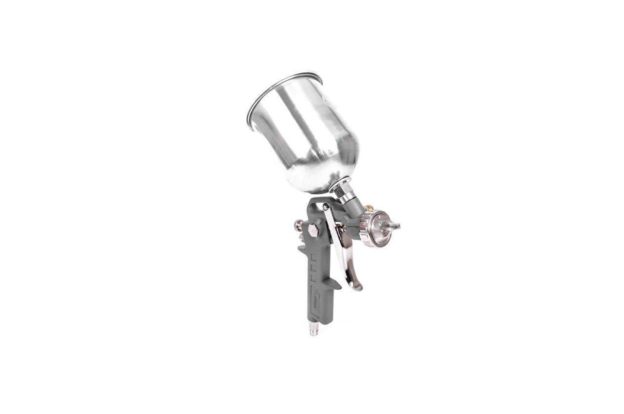 Пневмопистолет лакокрасочный Intertool - верхний бак (металл) 600 мл, d=1,5 мм