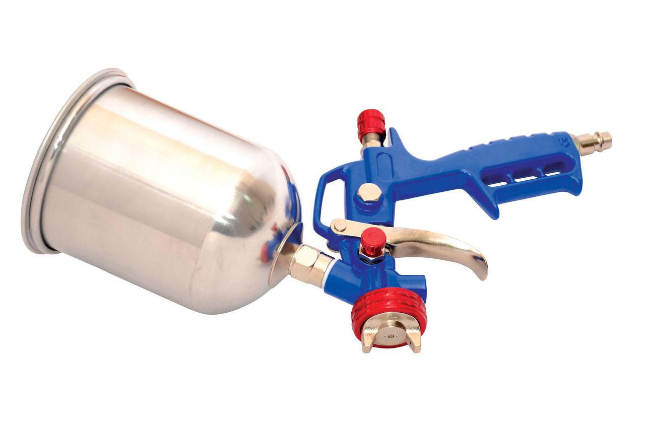 Пневмопистолет лакокрасочный Mastertool - верхний алюминиевый бак 600 мл, d=1,5 мм