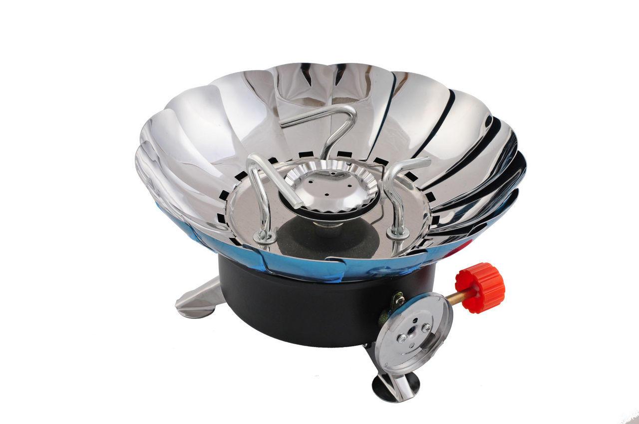 Плита газовая портативная Intertool - с лепестками от ветра