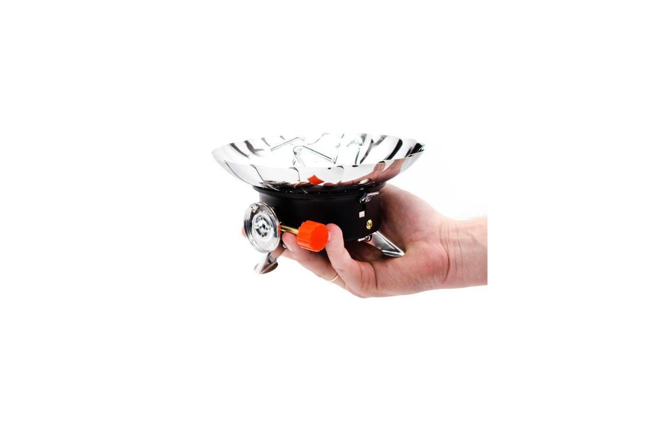 Плита газовая портативная Intertool - 200 x 85мм с лепестками от ветра