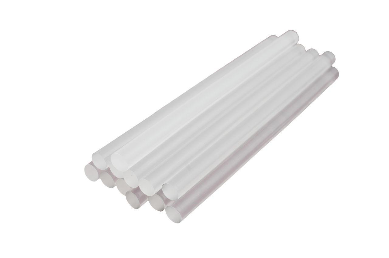 Клеевые стержни Intertool - 11,2 х 200 мм, прозрачные (12 шт.)