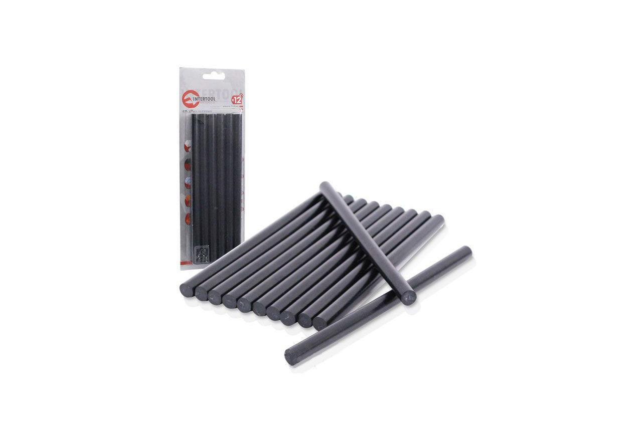 Клеевые стержни Intertool - 11,2 х 200 мм, черные