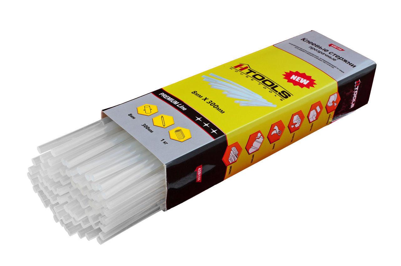 Клеевые стержни Housetools - 8 х 300 мм, прозрачные (1 кг), 42B150