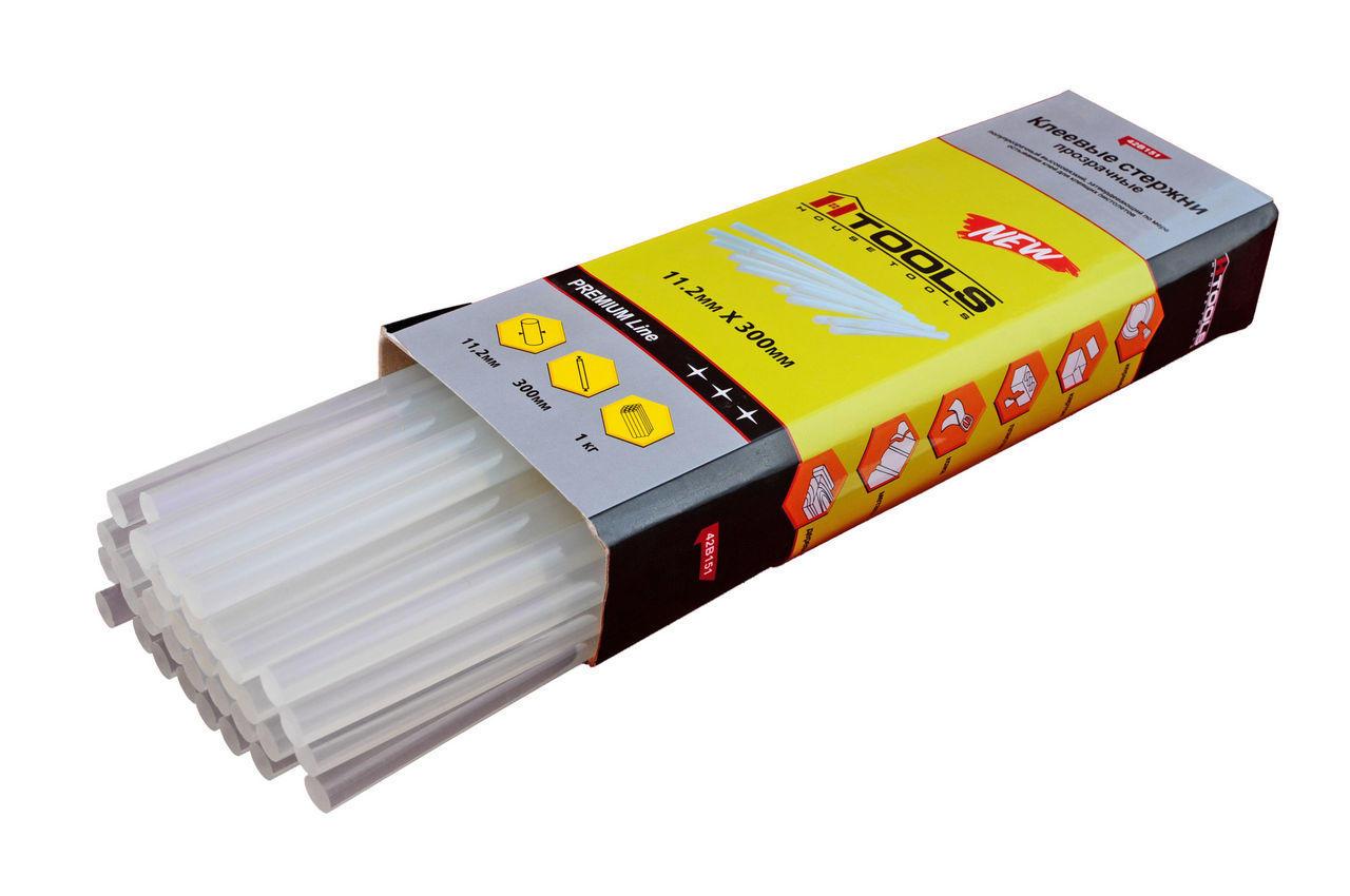 Клеевые стержни Housetools - 11,2 х 300 мм, прозрачные (1 кг), 42B151