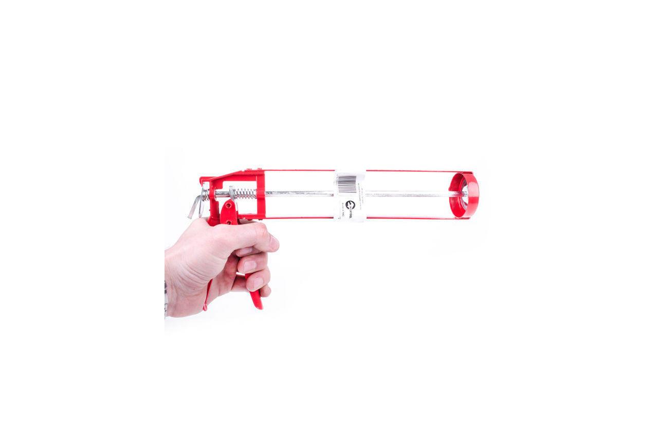 Пистолет для силикона Intertool - скелетный, 225 мм
