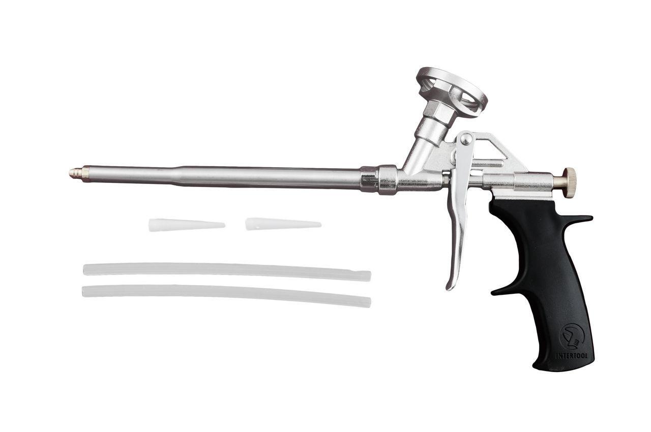 Пистолет для пены Intertool - никель, PT-0603