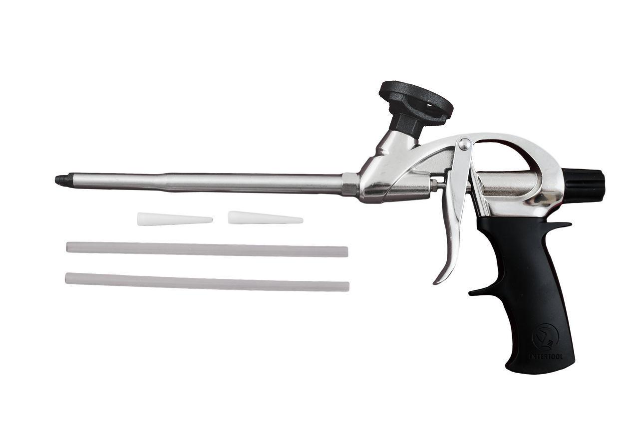 Пистолет для пены Intertool - с тефлоновым покрытием держателя баллона, PT-0604