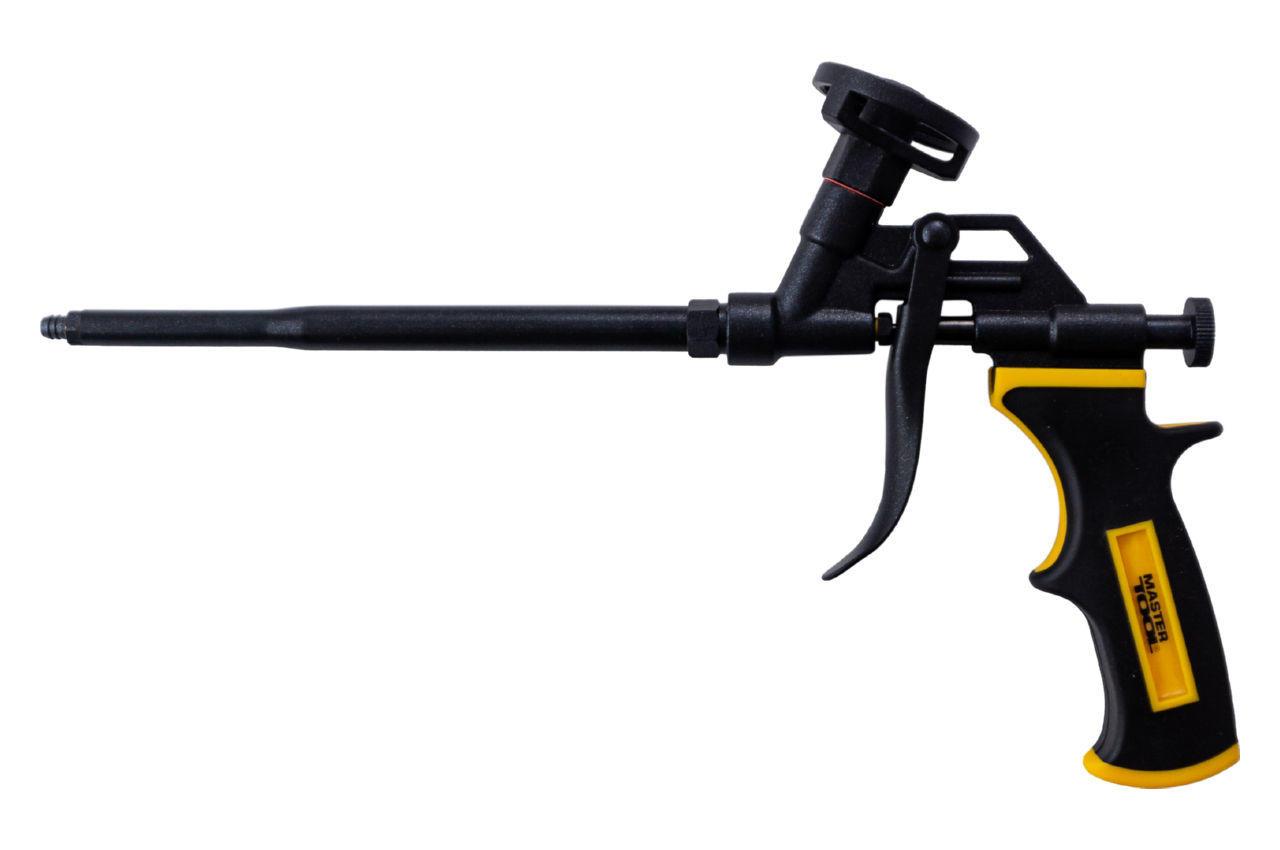 Пистолет для пены Mastertool - с тефлоновым покрытием держатель баллона, трубка, игла, 81-8673