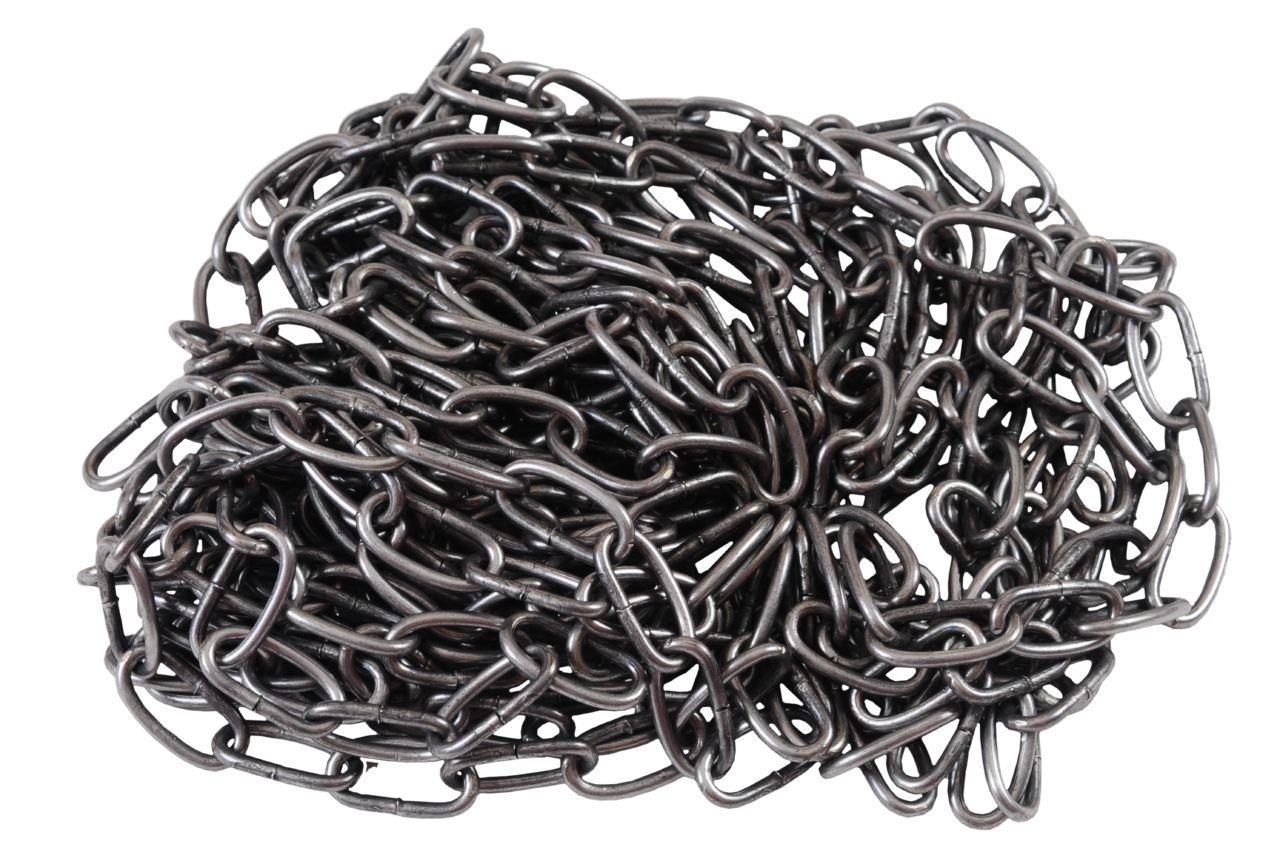 Цепь длиннозвенная Укрметиз - 8 х 42 х 5 м, черная