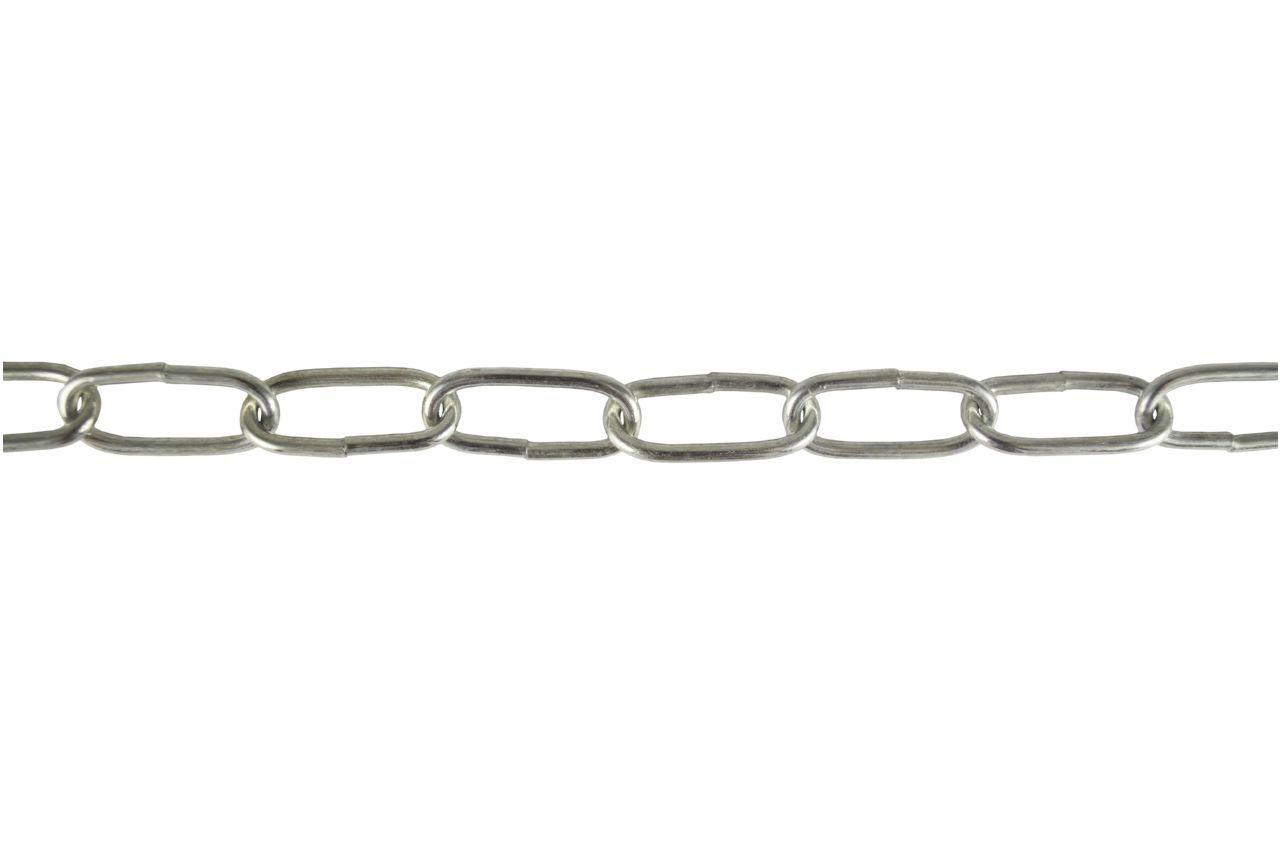 Цепь длиннозвенная Укрметиз - 3 х 28 х 10 м, оцинкованная