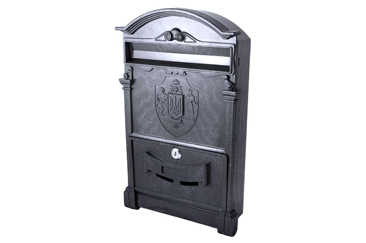 Почтовый ящик Vita - герб Украины (черный)