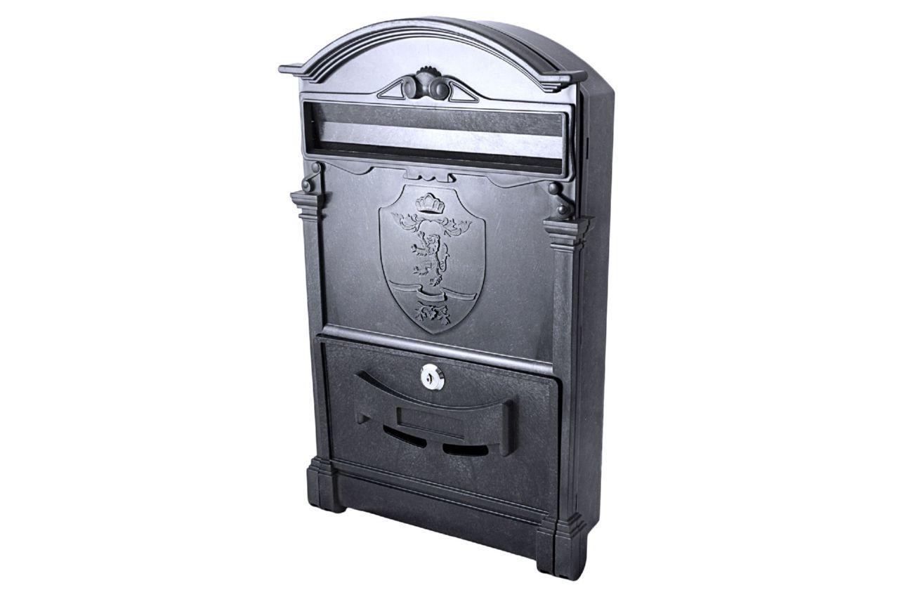 Почтовый ящик Vita - герб льва (черный)