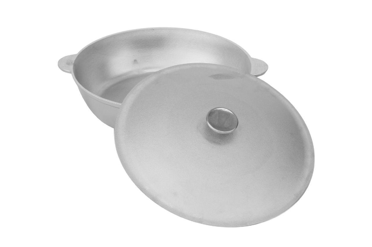 Сковорода алюминиевая Биол - 300 х 126 мм, с ровным дном и крышкой