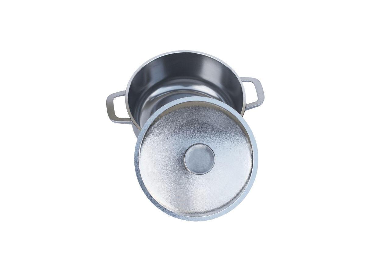Кастрюля алюминиевая Биол - 220 х 151 мм х 3 л, с утолщенным дном и крышкой