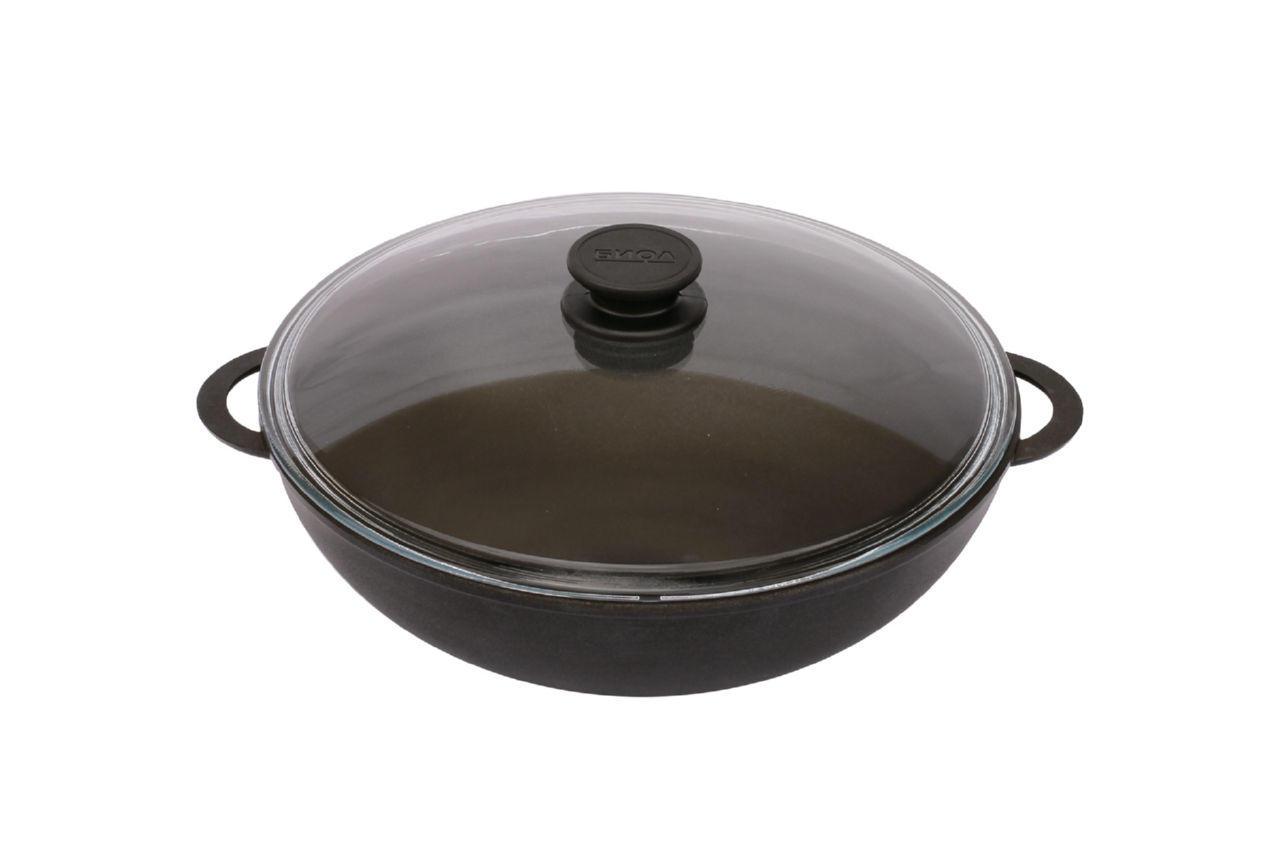 """Сковорода антипригарная Биол - 280 х 100 мм х 4 л """"wok"""", с литыми ручками и крышкой"""