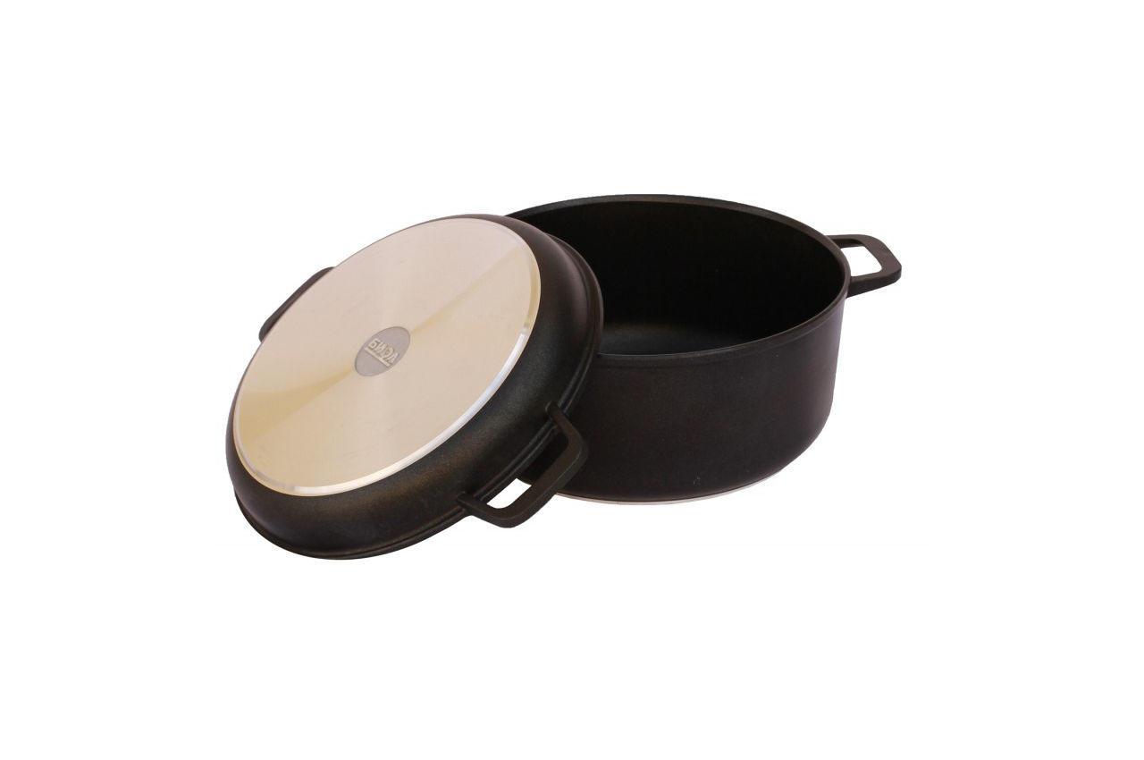Кастрюля антипригарная Биол - 240 х 150 мм х 4 л, с крышкой-сковородкой