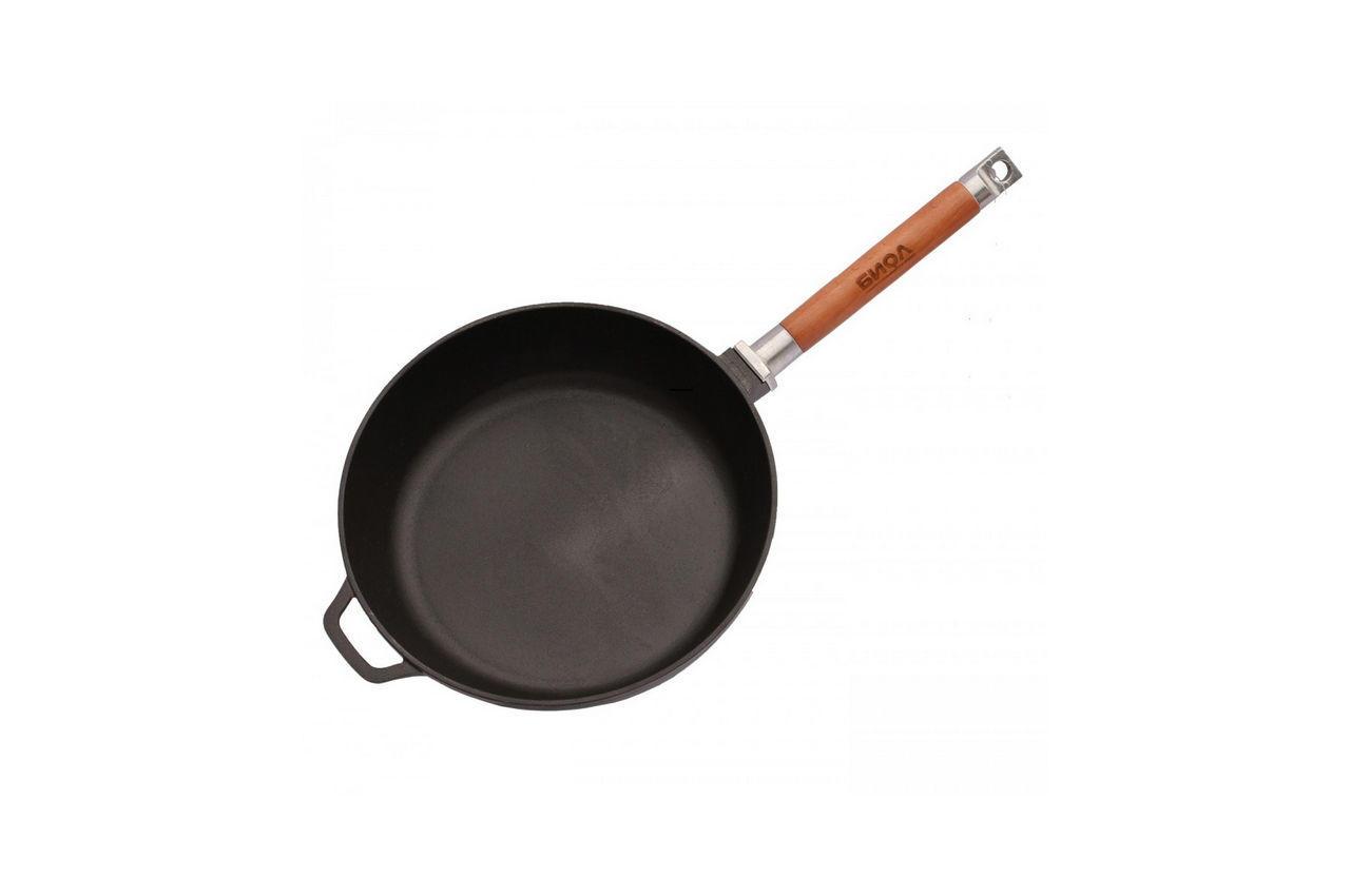 Сковорода чугунная Биол - 280 х 66 мм, классик