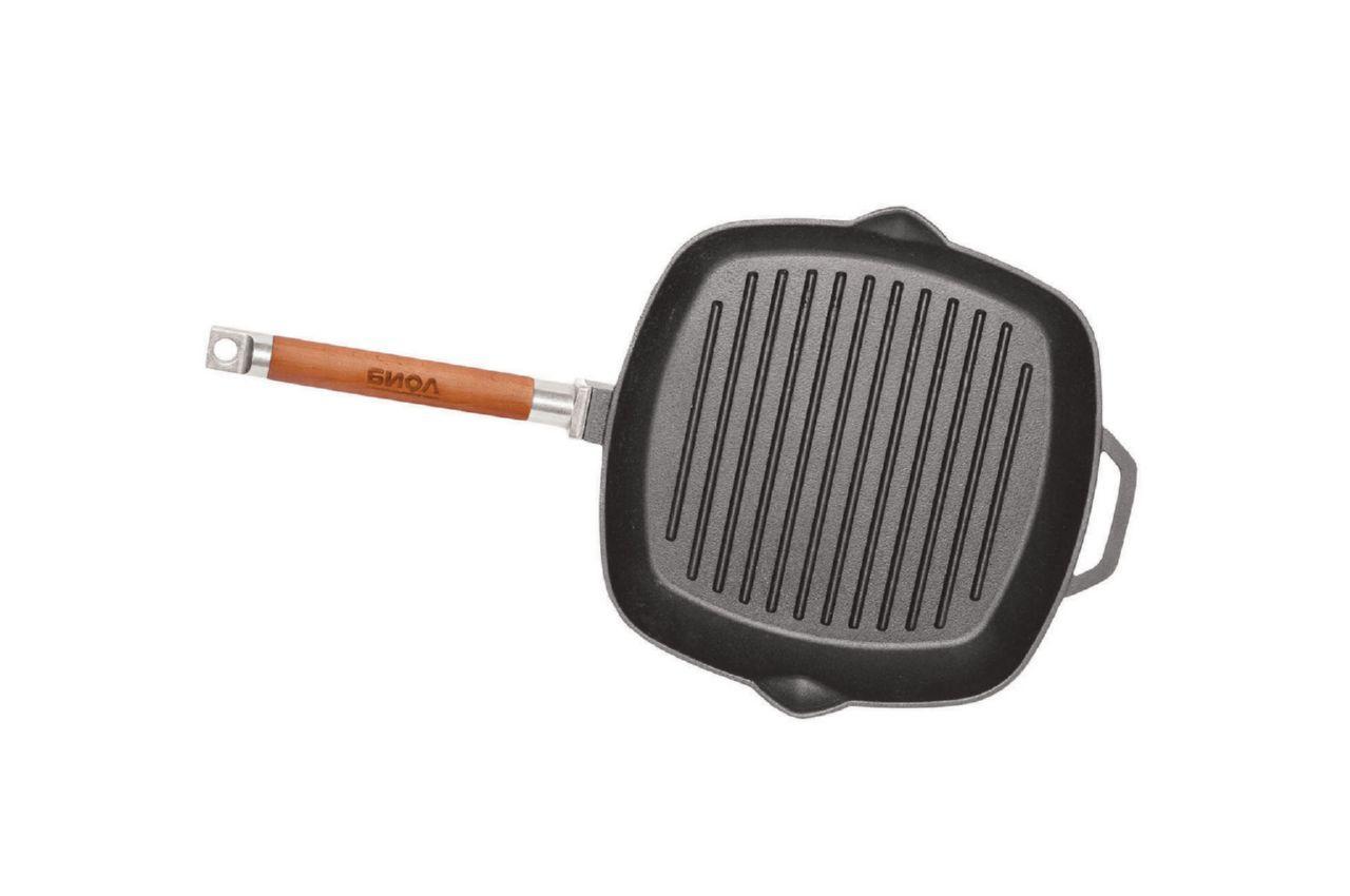 Сковорода-гриль чугунная Биол - 240 мм