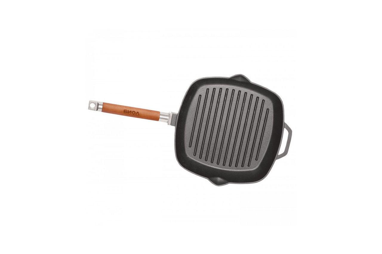 Сковорода-гриль чугунная Биол - 280 мм