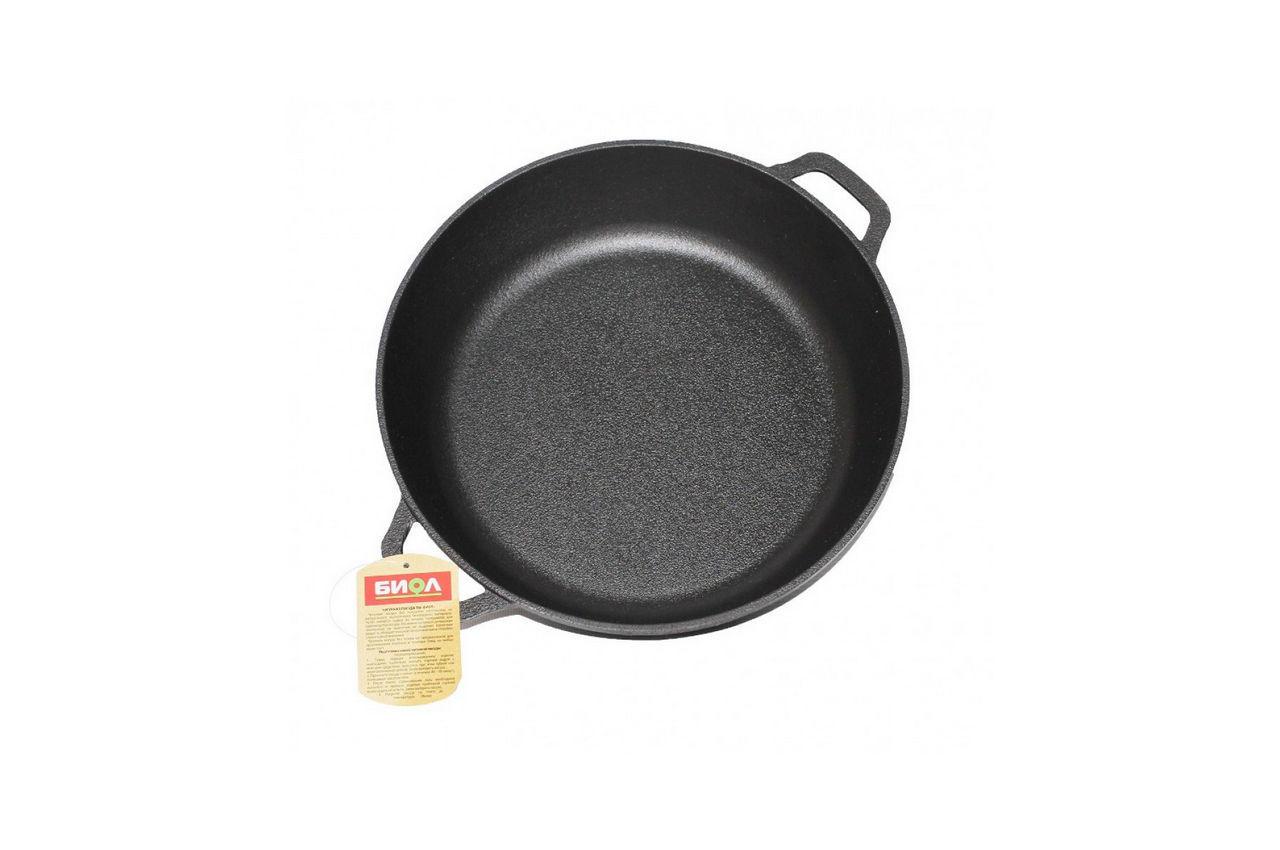 Сковорода жаровня чугунная Биол - 280мм