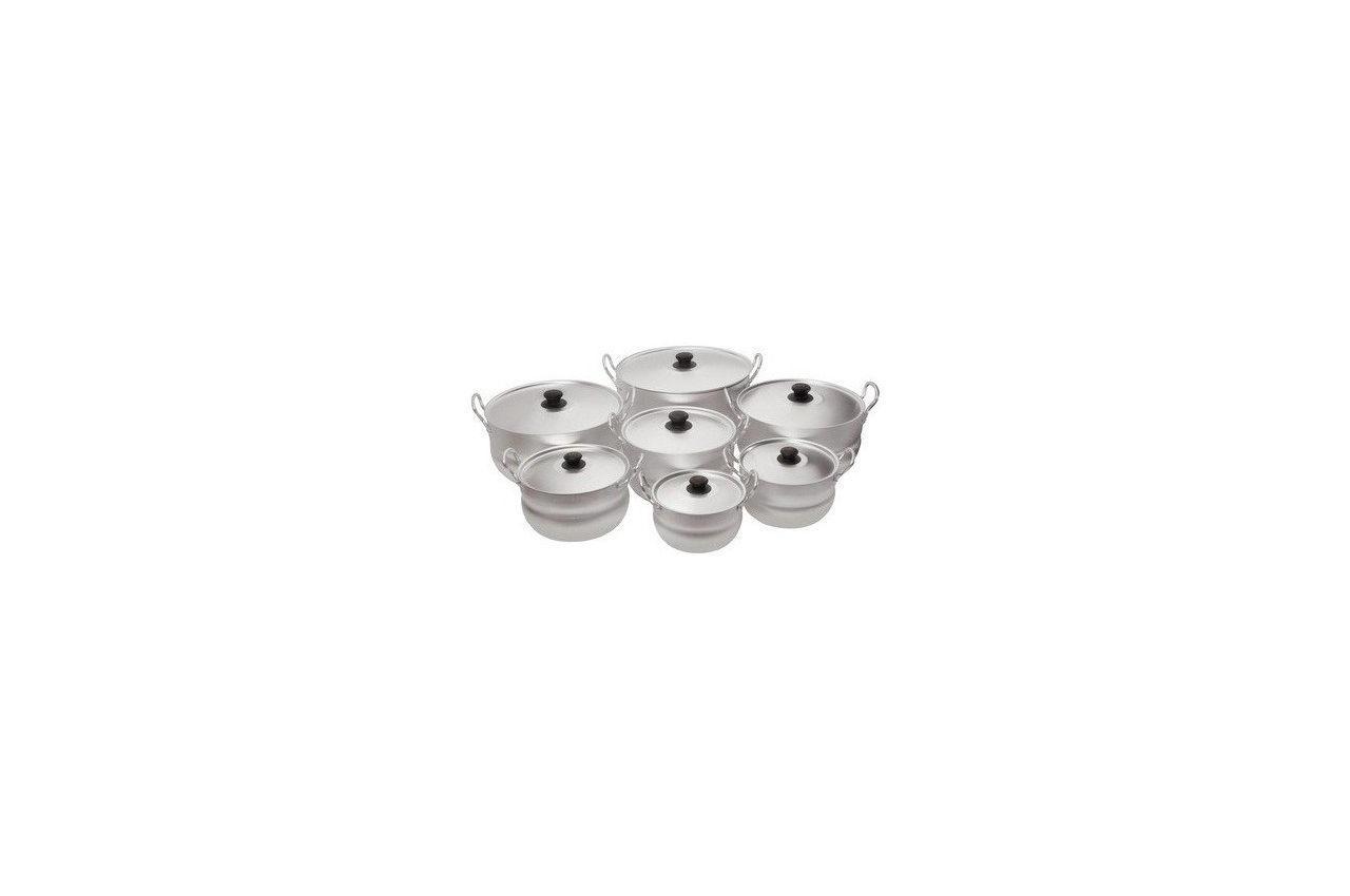 Набор посуды алюминевых Калитва - 7 шт. (1,7 - 10 л), 11107