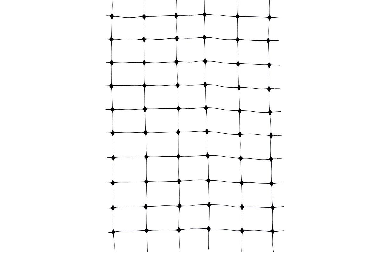 Сетка птичка Клевер - 1 х 50 м (ячейка 25 х 30 мм) черная, У-30/1,0/50ч
