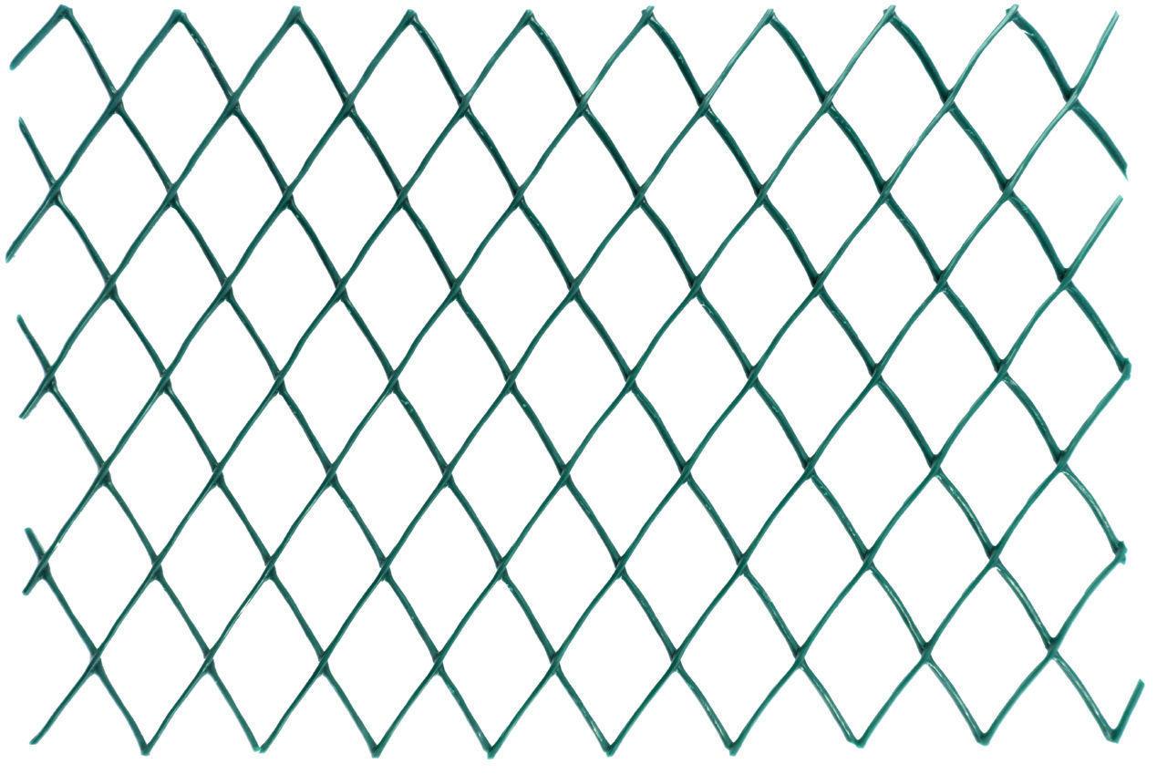Сетка забор Клевер - 1,5 х 10 м (ячейка ромб 30 х 30 мм) зеленая, Д-30/1,5/10з
