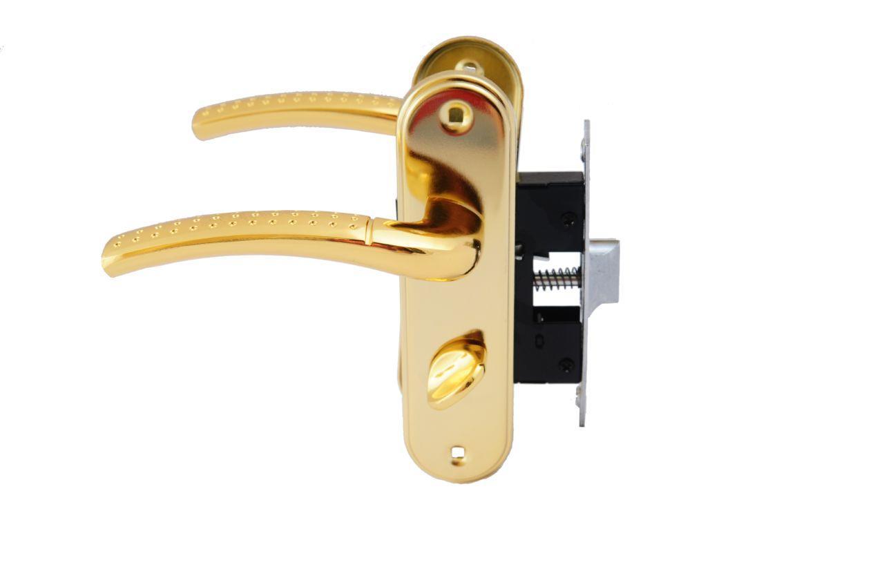 Ручка на планке с корпусом FZB - BK-71106 SB/PB (мат.золото/золото), 15-01-001
