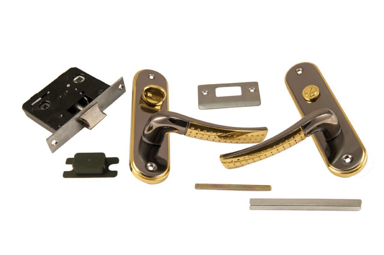 Ручка на планке с корпусом FZB - BK-71106 BN/GP (черн.никель/пол.золото)