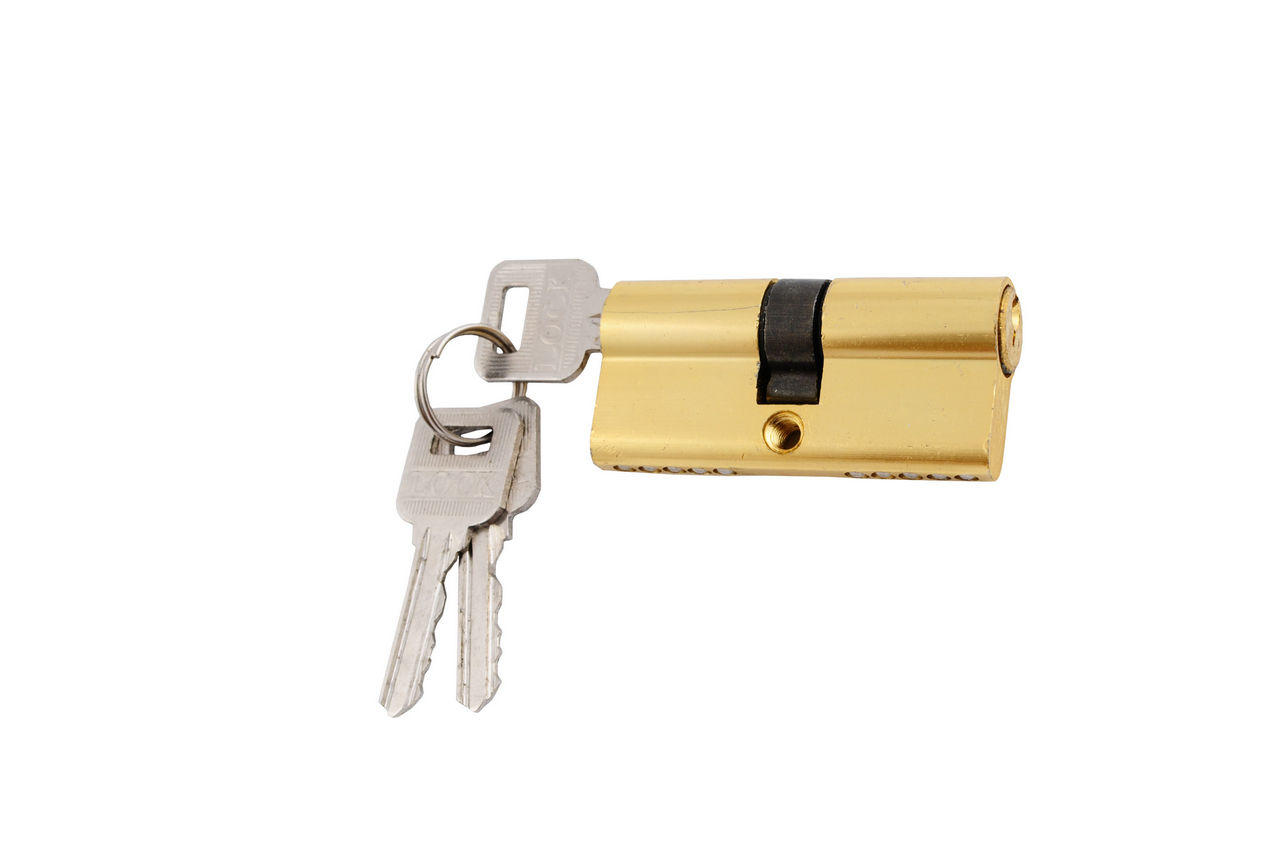 Цилиндр английский FZB - 60 мм к/к ключа РВ (латунь)