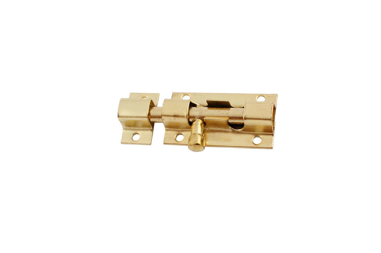 Шпингалет FZB - квадрат маленький РВ (золото), 01-39-001