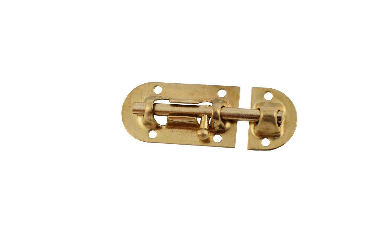 Шпингалет FZB - овальный РВ (золото), 01-37-001