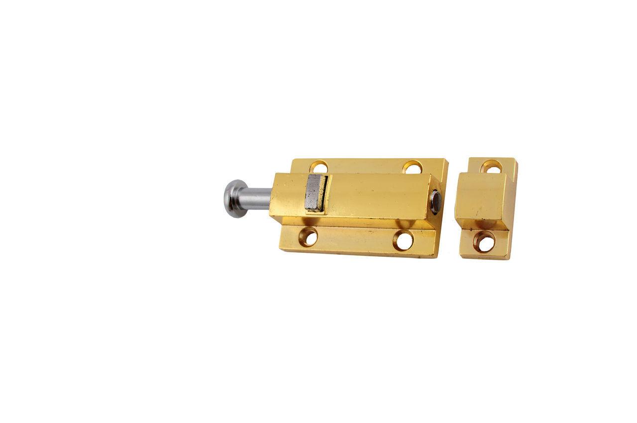 Шпингалет FZB - кнопка маленькая РВ (золото)