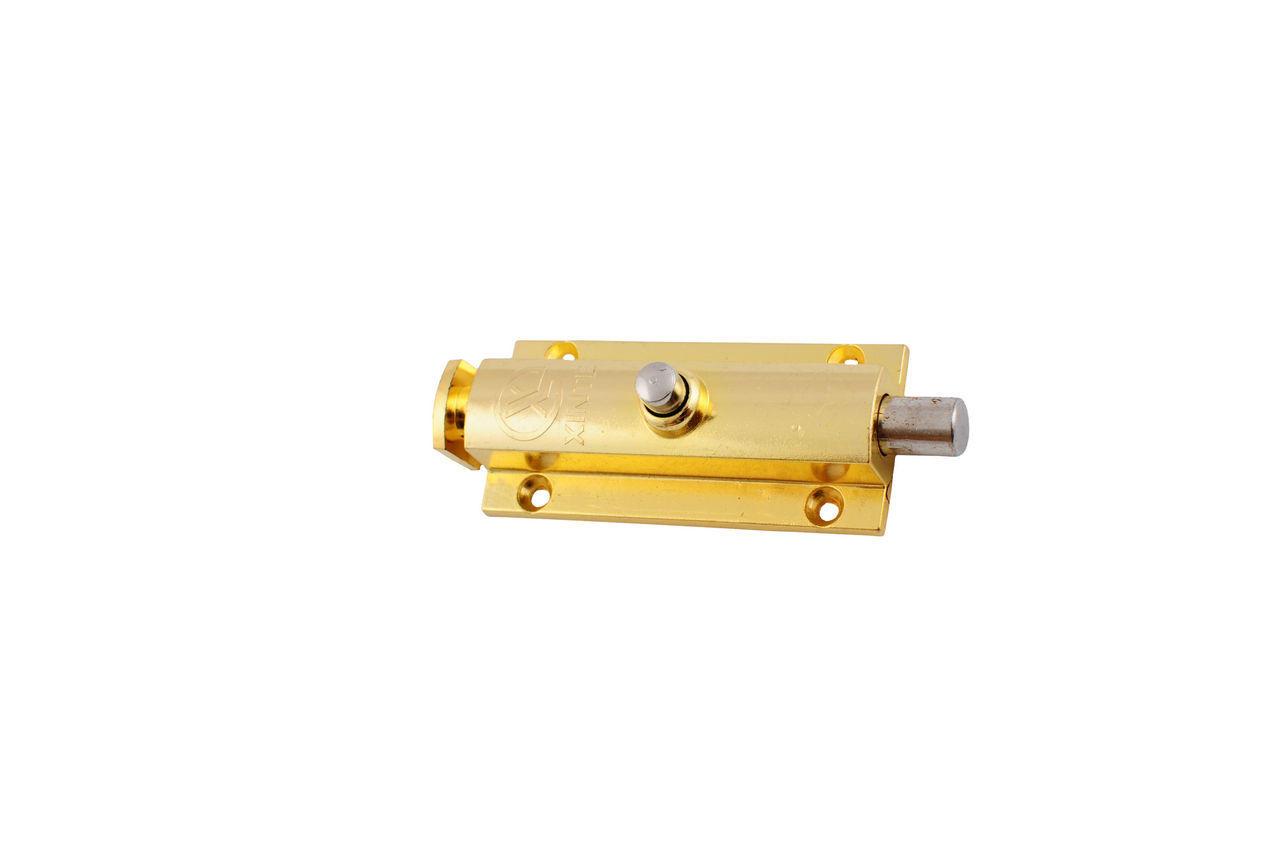 Шпингалет FZB - кнопка большая РВ (золото)