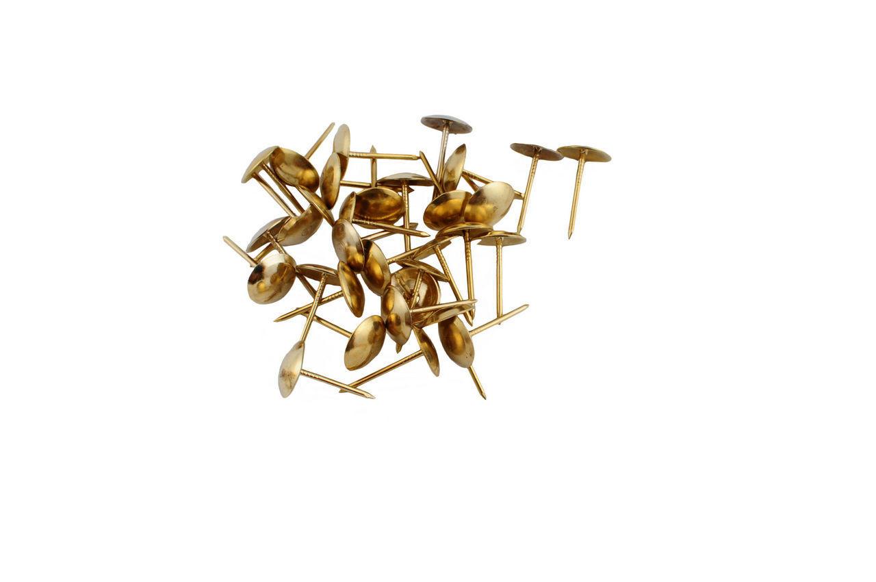 Гвозди мебельные FZB - гладкие РВ (золото), 01-30-001