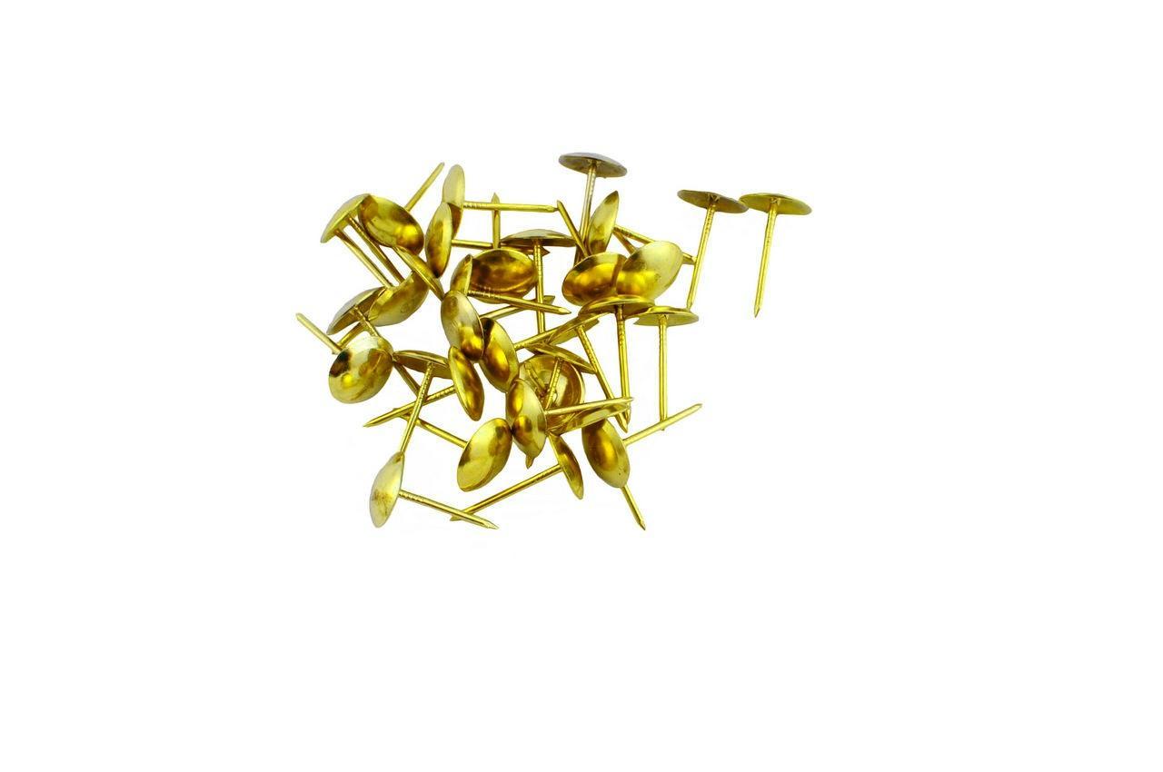 Гвозди мебельные FZB - гладкие AB (бронза), 01-30-004