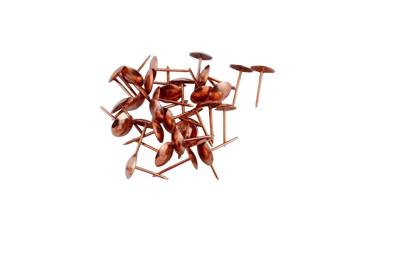 Гвозди мебельные FZB - гладкие AC (медь)