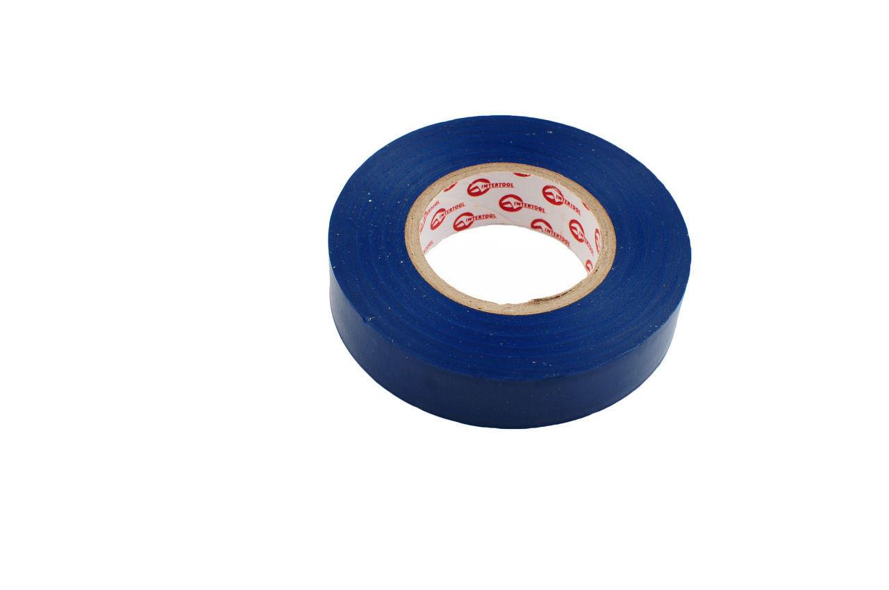 Лента изоляционная Intertool - 10 м, синяя, IT-0010