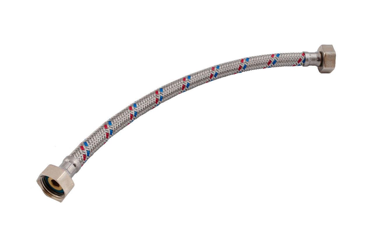 Шланг для воды, в нержавеющей оплетке d=7,8 х 12,5 мм, L=800 1/2