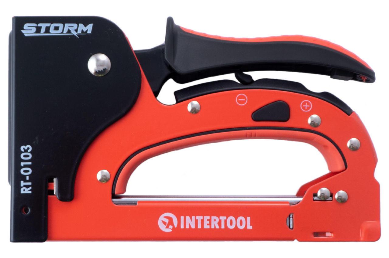 Степлер Intertool - 4-14 мм, металл RT-0103