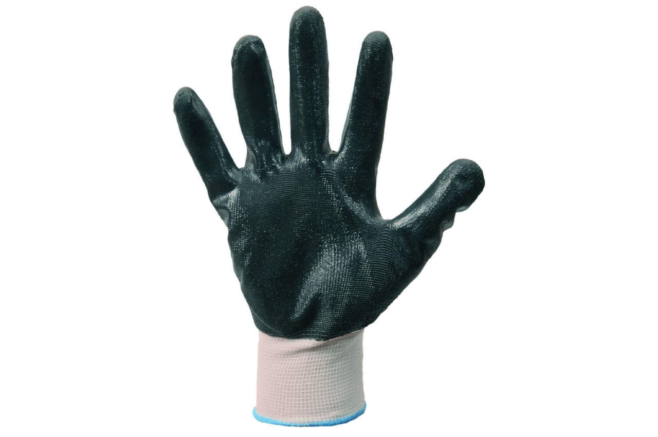 """Перчатки Mastertool - с нитриловым покрытием 10"""" (бело-серые) 12 шт."""