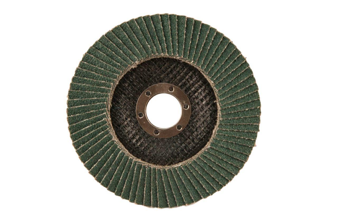 Круг лепестковый торцевой Эталон - 125 мм, Р100 металл изогнутый