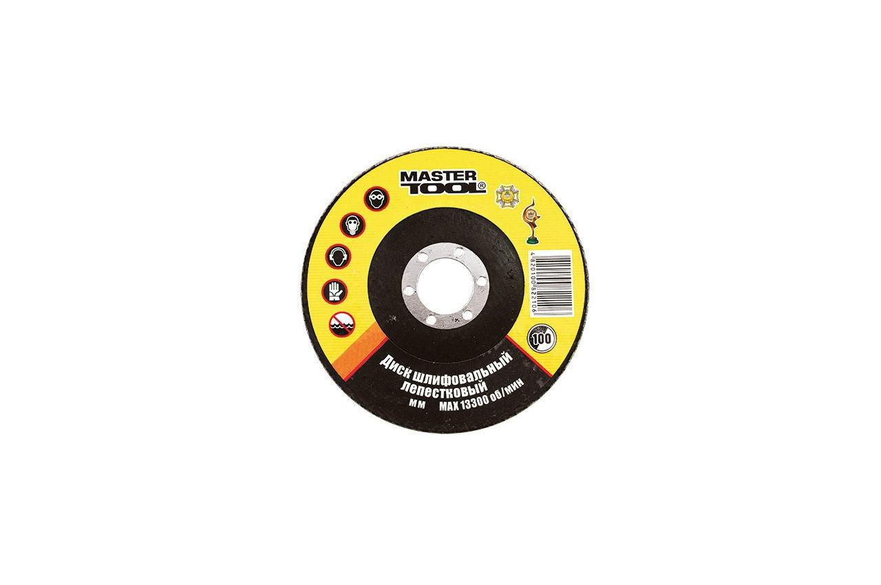 Круг лепестковый торцевой Mastertool - 125 мм, Р40, 08-2204