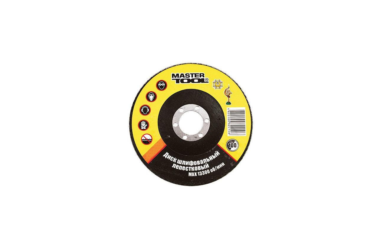 Круг лепестковый торцевой Mastertool - 125 мм, Р80, 08-2208