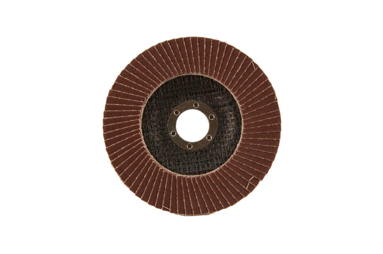 Круг лепестковый торцевой Тайфун - 125 мм, Р80 металл прямой