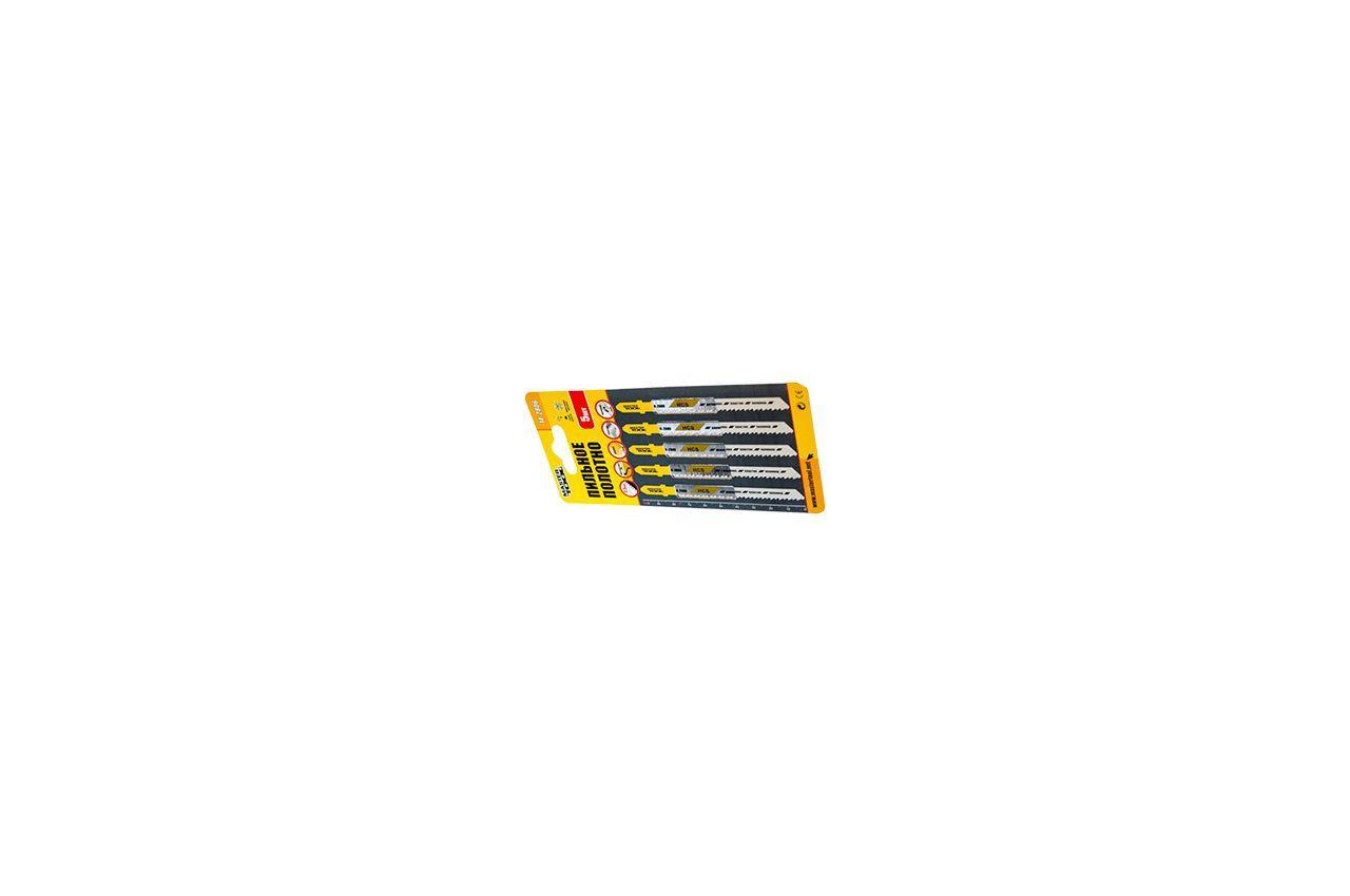 Полотно пильное для лобзика Mastertool - 93 х 3 мм, дерево-пластик (5 шт.), 14-2804
