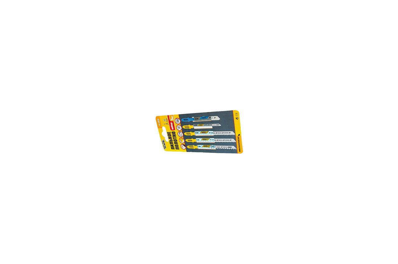 Полотно пильное для лобзика Mastertool - набор дерево-пластик-металл (5 шт.), 14-2850