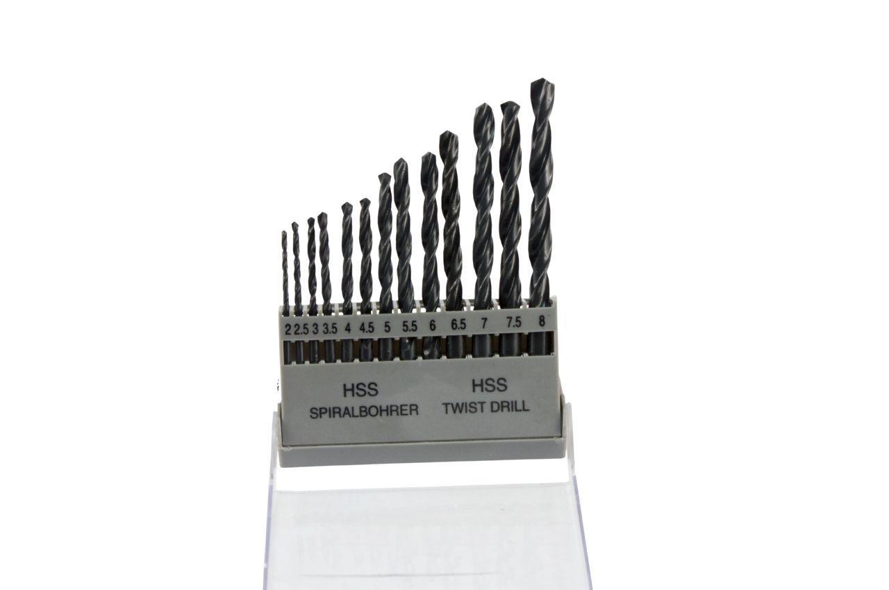 Набор сверл по металлу Mastertool - 13 шт. (2-8 мм), черный