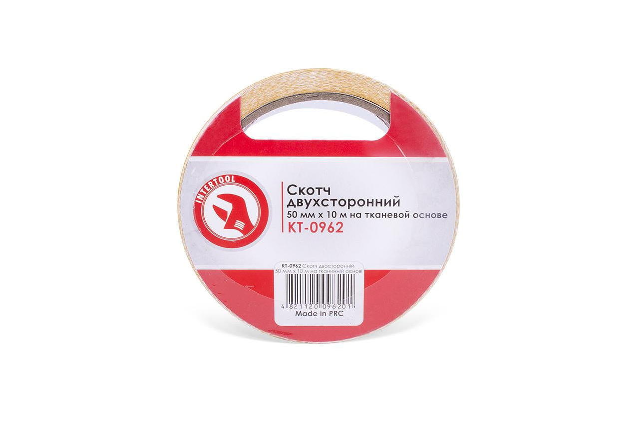 Скотч двухсторонний Intertool - 50 мм х 10 м, ткань
